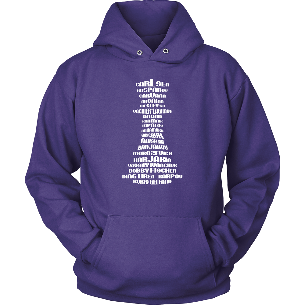 Top 20 chess players - Chess Queen Piece - Unisex Hoodie