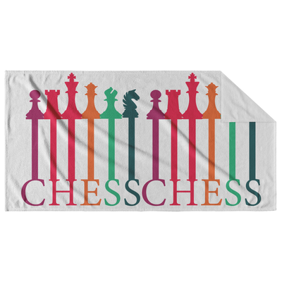 Chess spectrum pieces Beach Towel