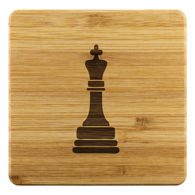 Chess King Bamboo Coaster