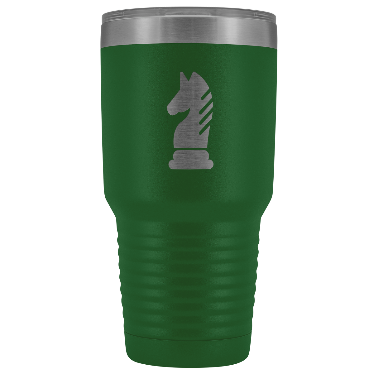 Laser etched Knight 30 Ounce stainless steel Vacuum insulated hot and cold beverage Tumbler