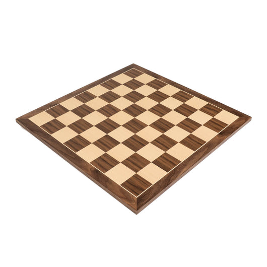 "Quality Walnut Wood Chess Board with 2.375"" Squares"