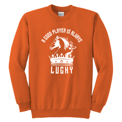 A good player is always lucky - Youth Unisex Sweatshirt