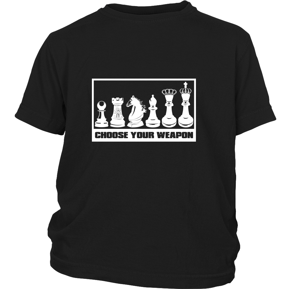 Choose your weapon - youth chess T-shirt