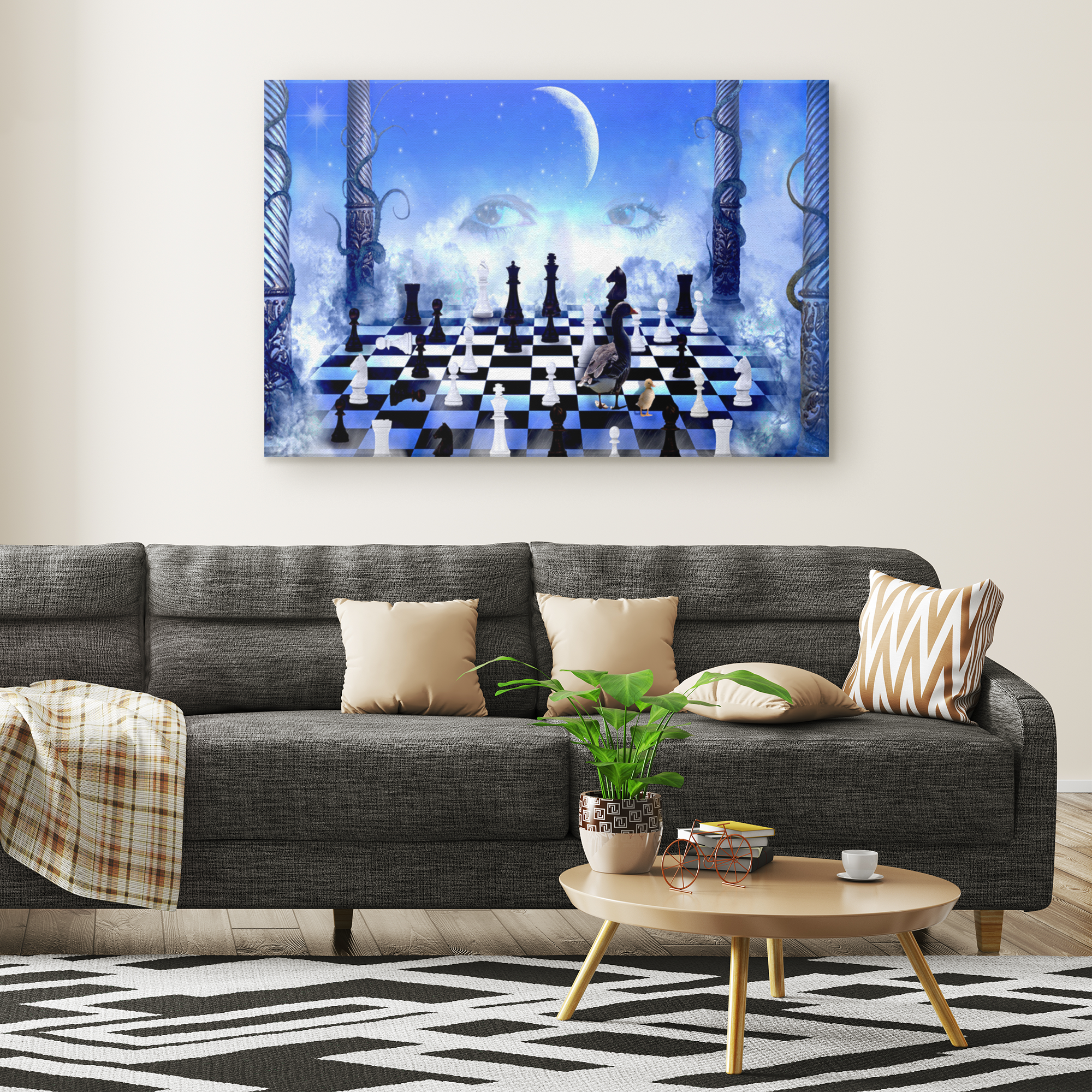 Fantasy Chess Rectangle Gallery Canvas wall art