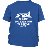 Oh look, you know how to castle! cute! - Youth chess T-shirt