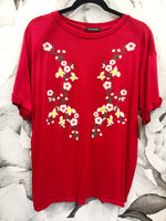 Red Embroidered Shirt