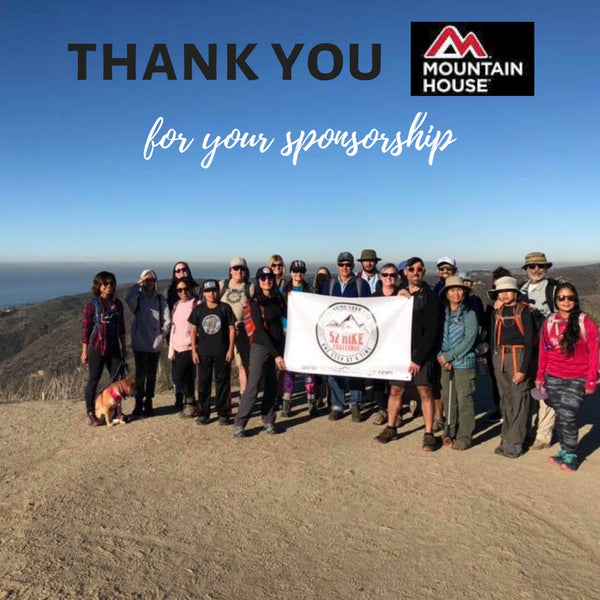 Special Thanks To Mountain House For Sponsoring 52 Hike Challenge In 2018