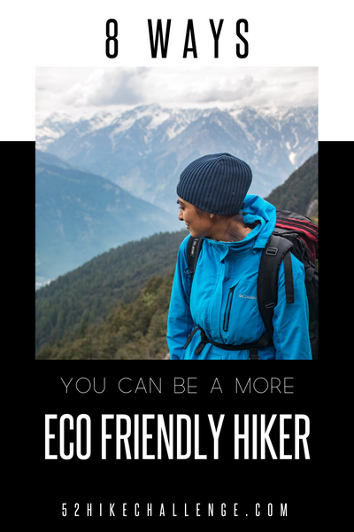 how to be a more sustainable hiker