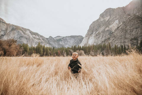 kid in Yosemite
