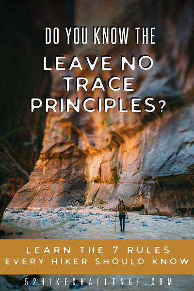 leave no trace for hikers