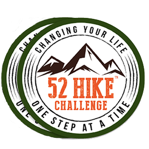 52 Hike Challenge Stickers (2-Pack)