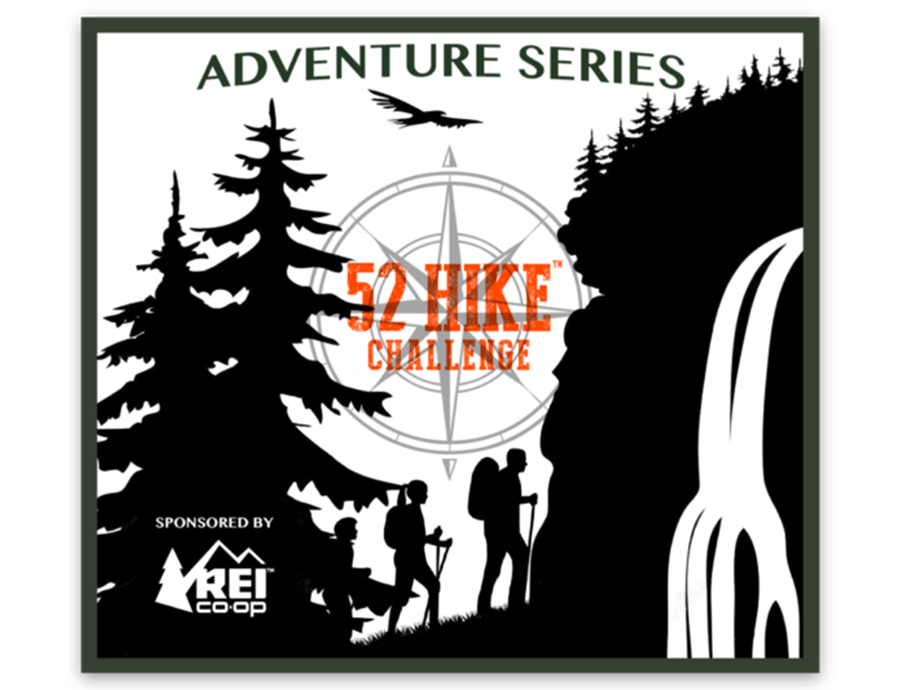 52 Hike Challenge Adventure Series Sticker (Single Sticker)