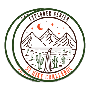 52 Hike Challenge Explorer Series Stickers Pack (2-Pack)