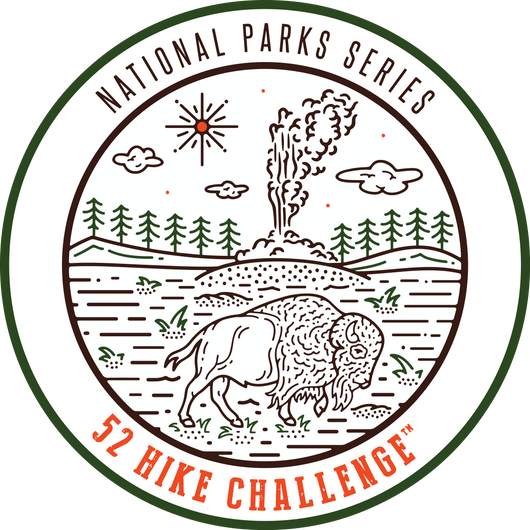 52 Hike Challenge National Parks Stickers (2-pack)