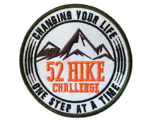 Small 52 Hike Challenge Original Logo Patches