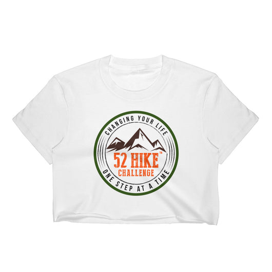 Original 52 Hike Challenge Logo Women's Crop Tee