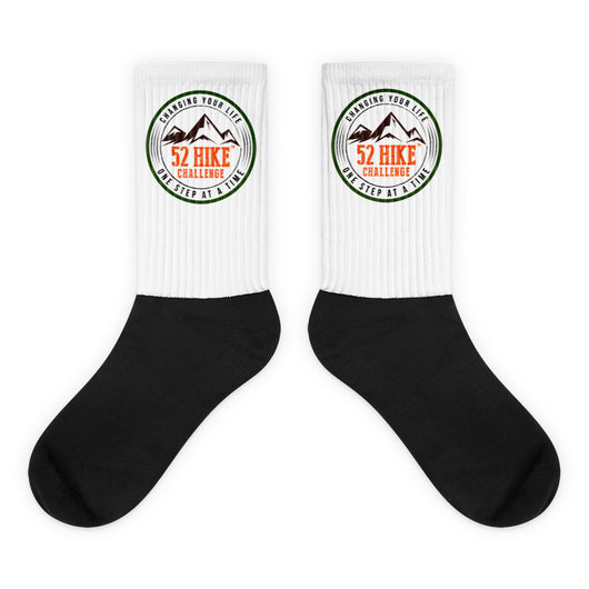 Original 52 Hike Challenge Logo Socks