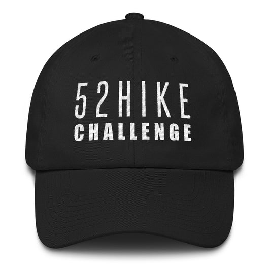 52 Hike Challenge White Text Hat