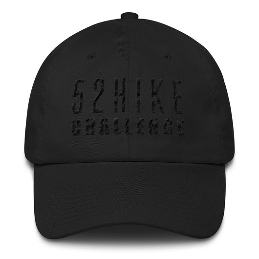 52 Hike Challenge Black Text Hat
