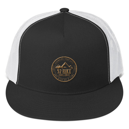 52 Hike Challenge Brown Logo Trucker Cap