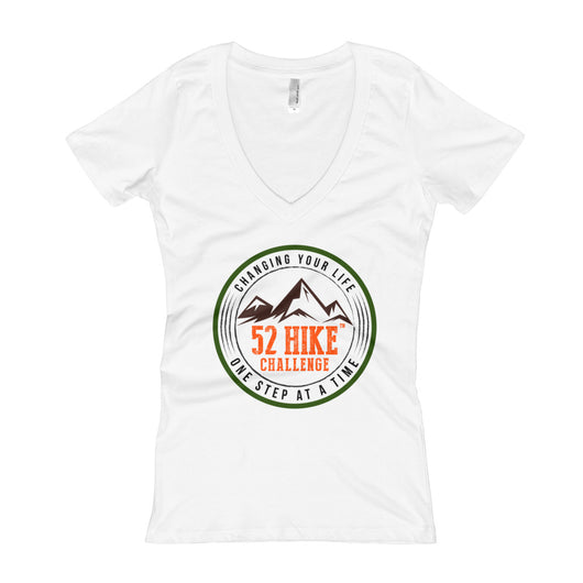 Original 52 Hike Challenge Women's V-Neck T-shirt