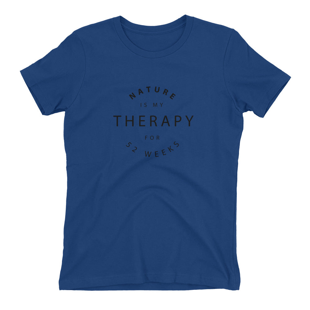 Nature is My Therapy Women's Boyfriend Tee