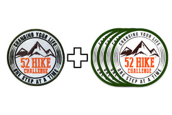 52 Hike Challenge Starter Package: Patch and 4 Pack of Stickers
