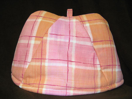 Pink Plaid Classic Tea Cozy