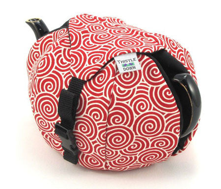 Red Swirl HOB Tea Cozy