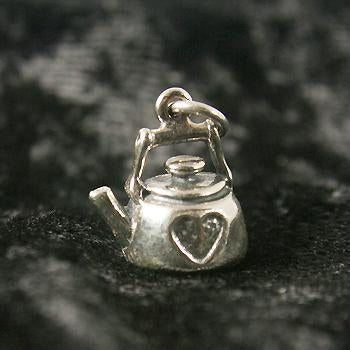 Sterling Silver Heart Kettle Charm