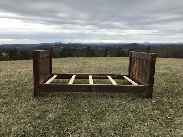 Reclaimed Twin Bed, White Oak