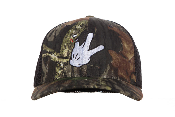 Flex Fit Trucker Mossy Oak Black Mesh