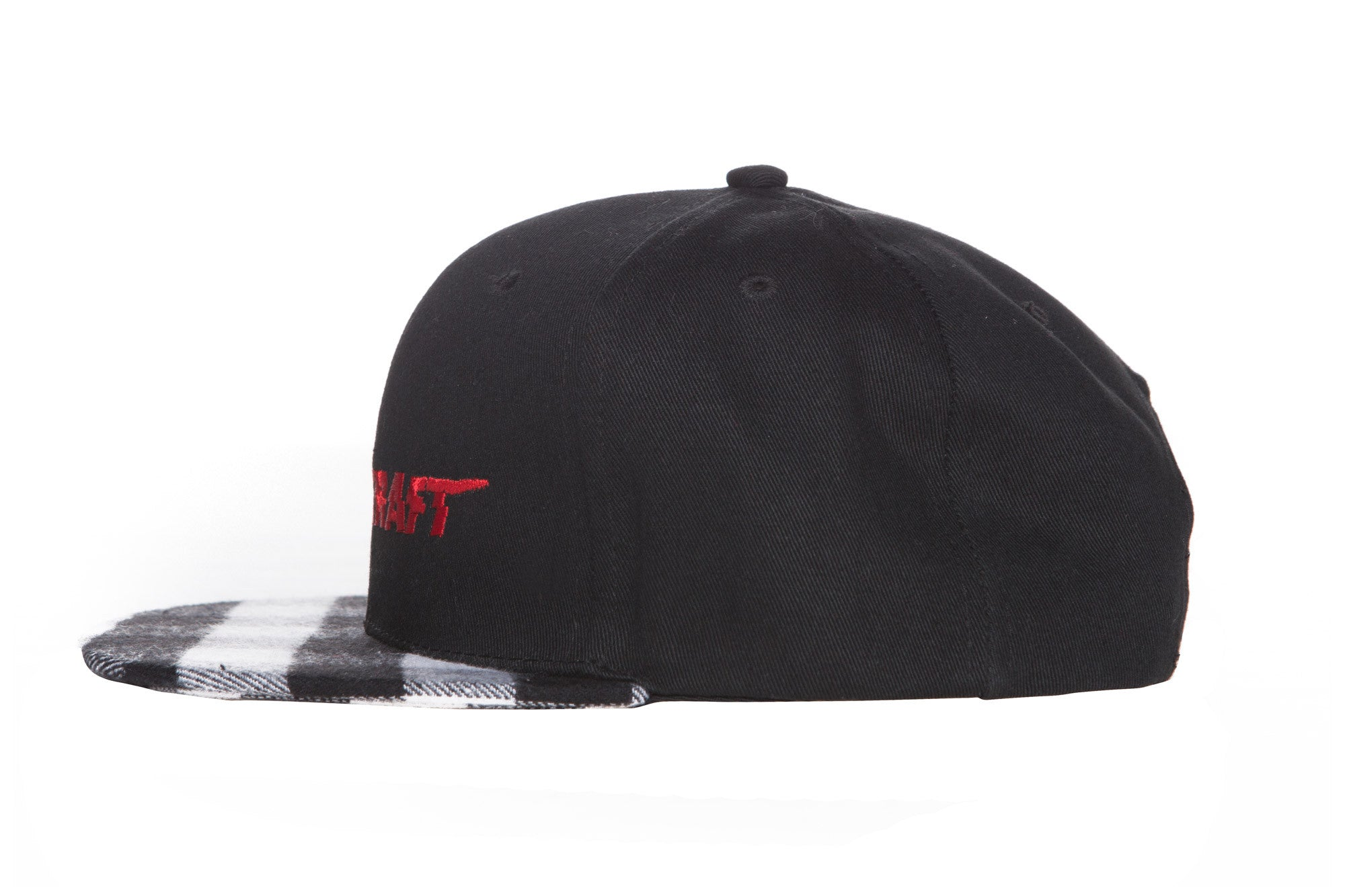 "Limited Edition ""Blood-In Club"" Plaid Snapback (White/Black)"