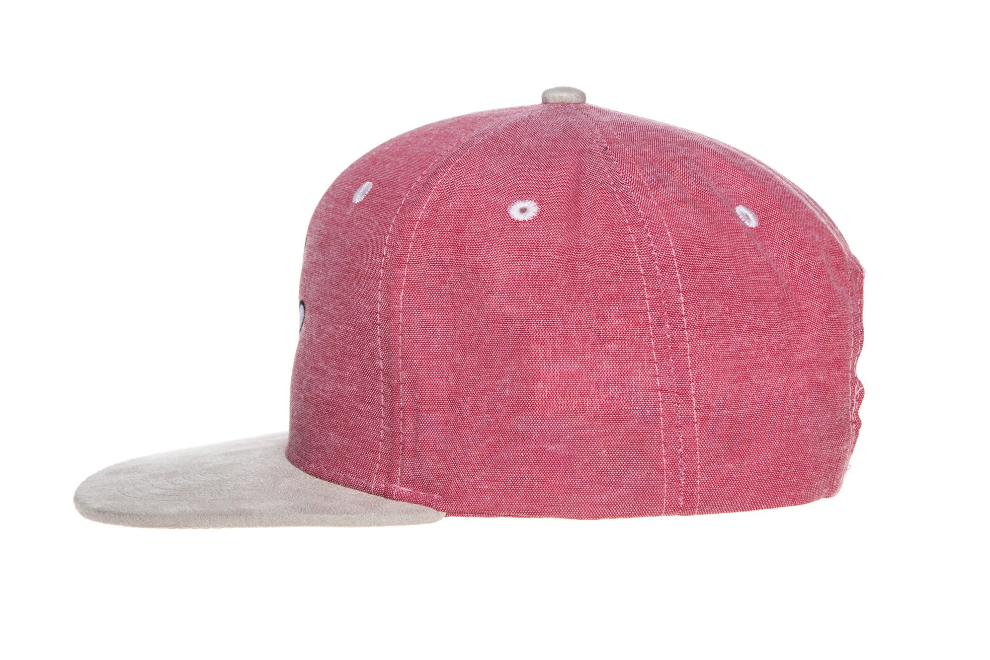 White/pink/khaki Suede Bill Snapback