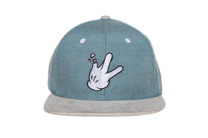 Dad Oxford Suede Hat (Teal/White)