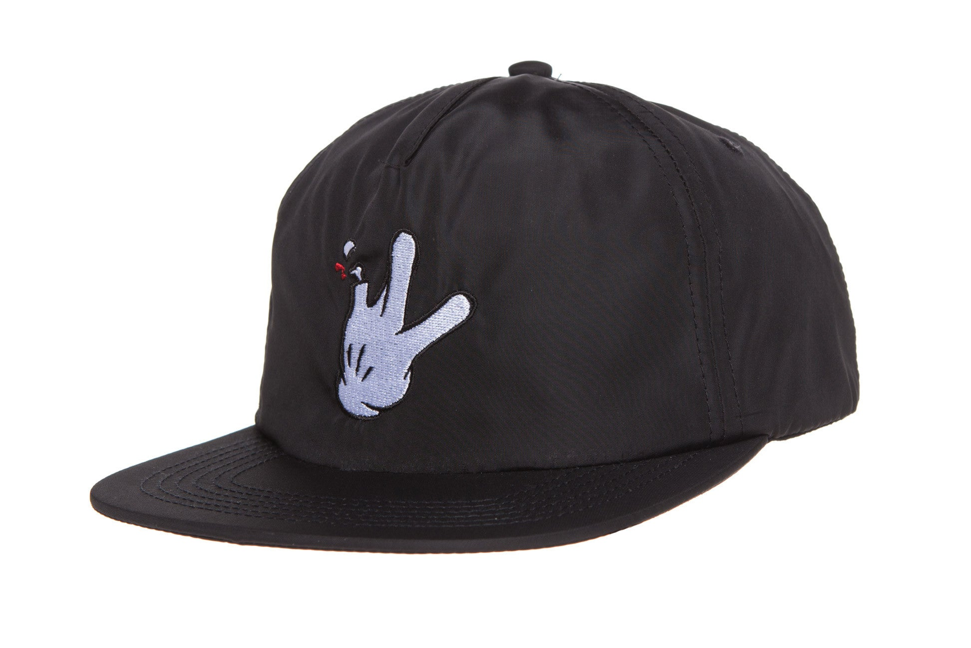 "Deconstructed Nylon SnapBack ""Glove"""