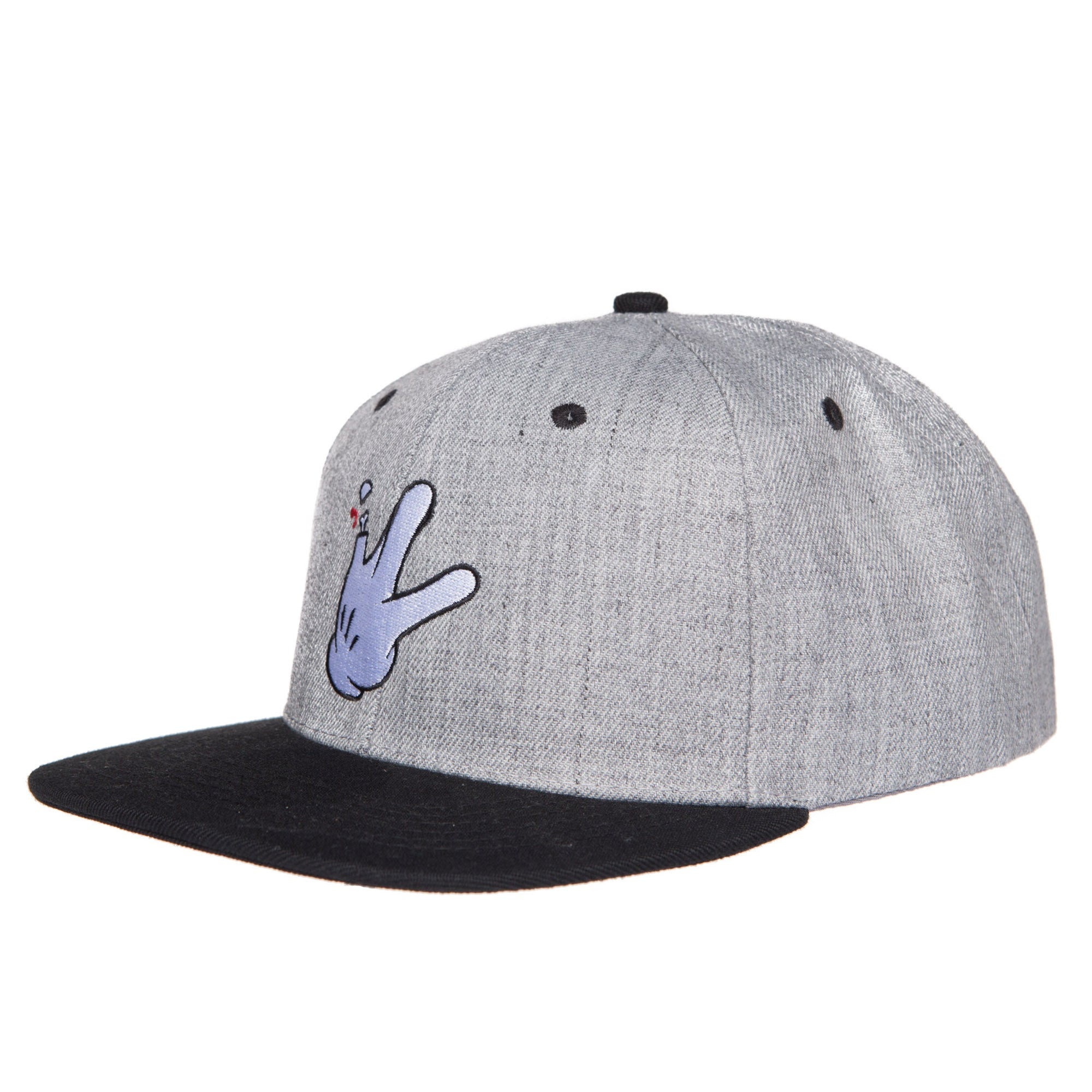 "Wool Blend Grey/Black Flatbill RaceKraft ""Glove"" SnapBack Hat"