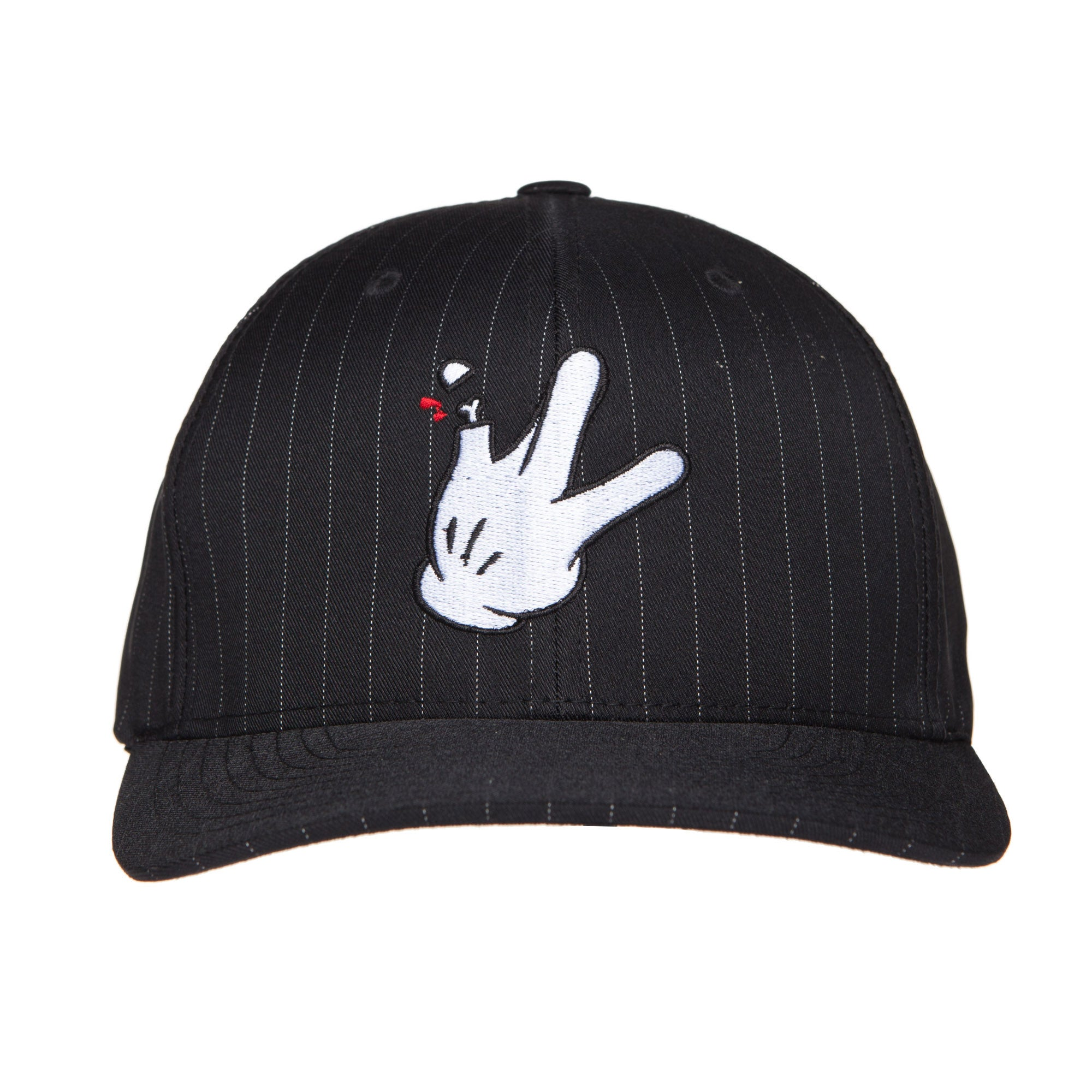 "Flexfit Black Pinstripe RaceKraft ""Glove"" SnapBack Hat"