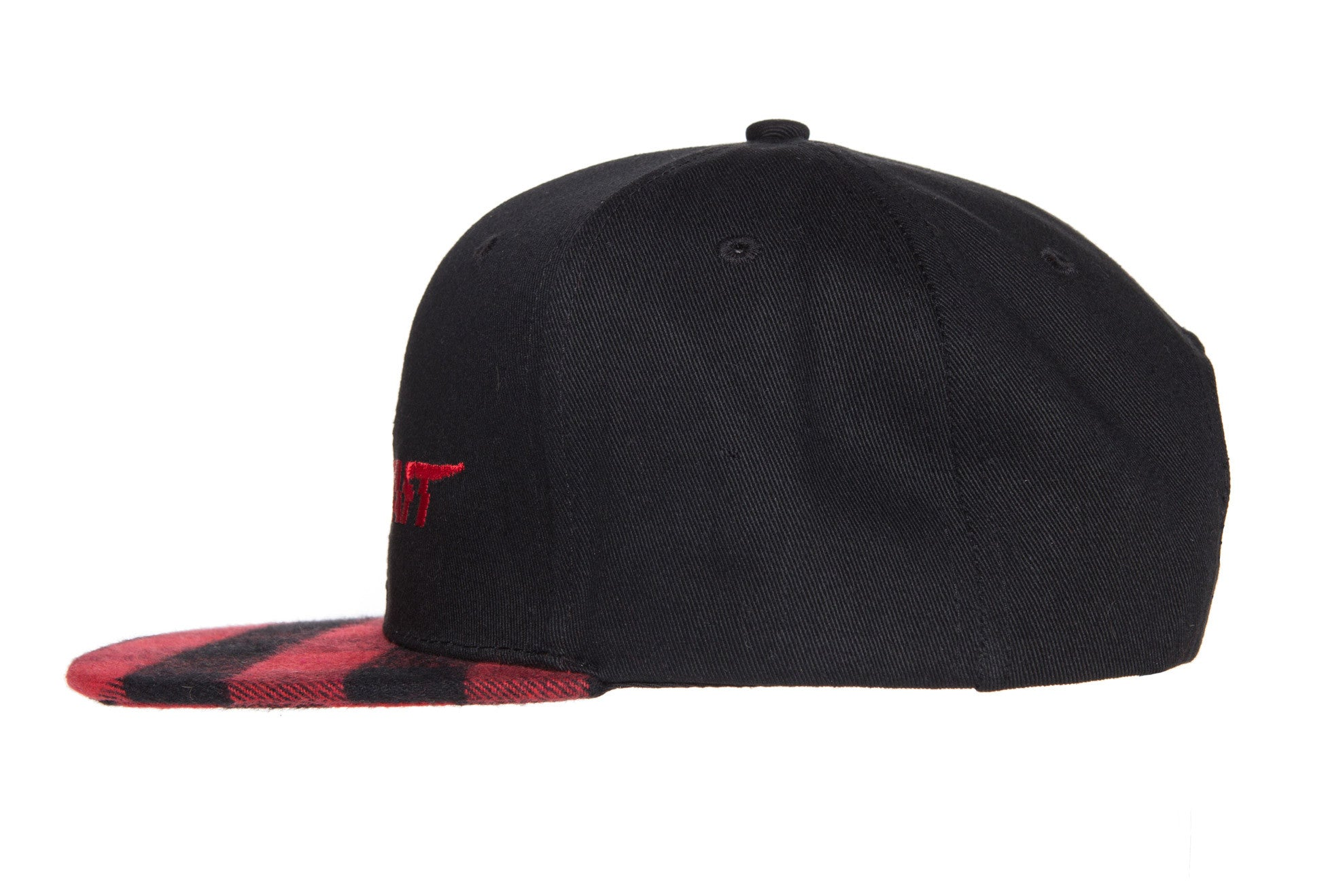 "Limited Edition ""Blood-In Club"" Plaid Snapback (Red/Black)"