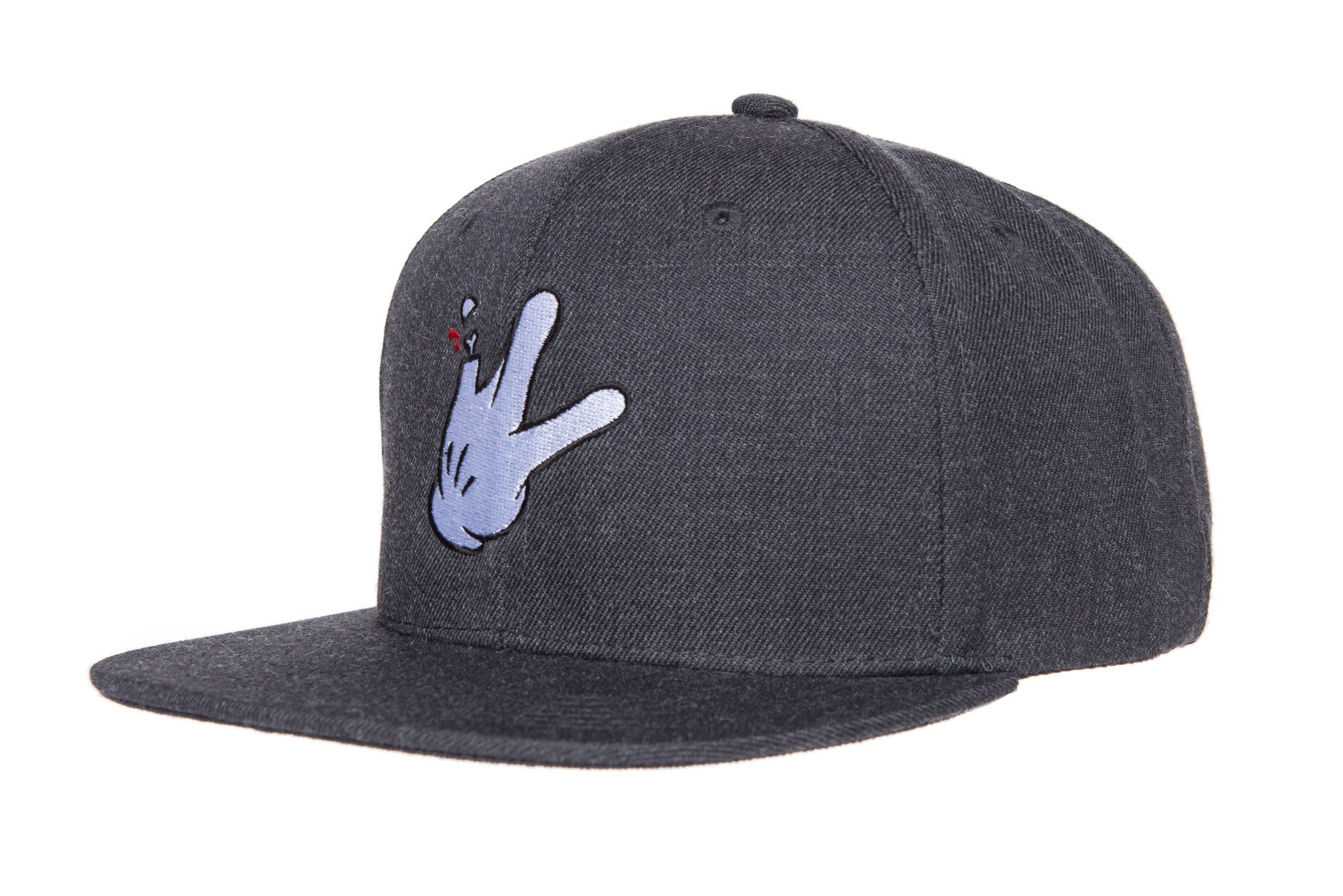 RaceKraft Cartoon Glove Snapback (Dark Grey)