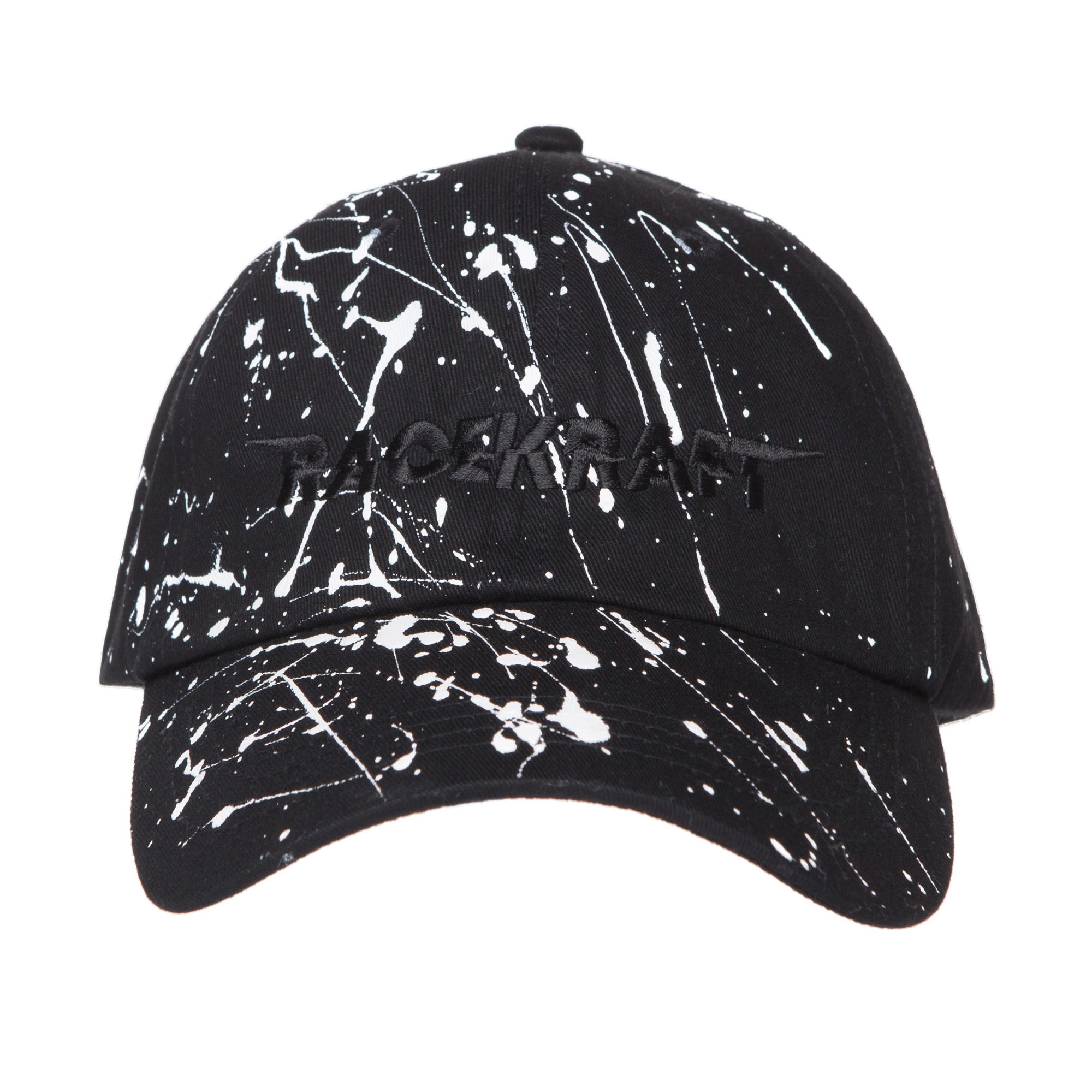 "Paint Splat Plain Cotton Polo Twill Black RaceKraft ""Black RaceKraft"" StrapBack Hat"