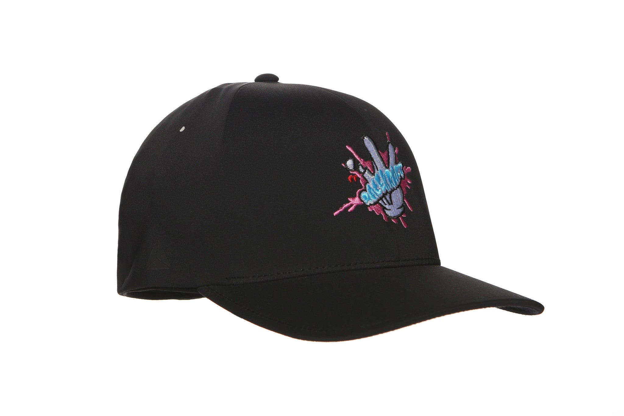 Cartoon Glove Stretch Fit Hats (Pink/Blue Splash)
