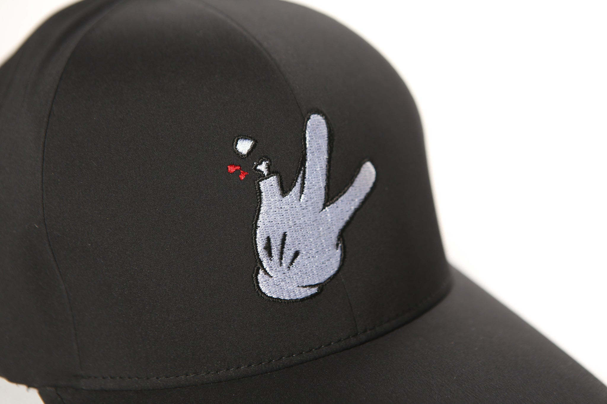 Cartoon Glove Stretch Fit Hats (Black)