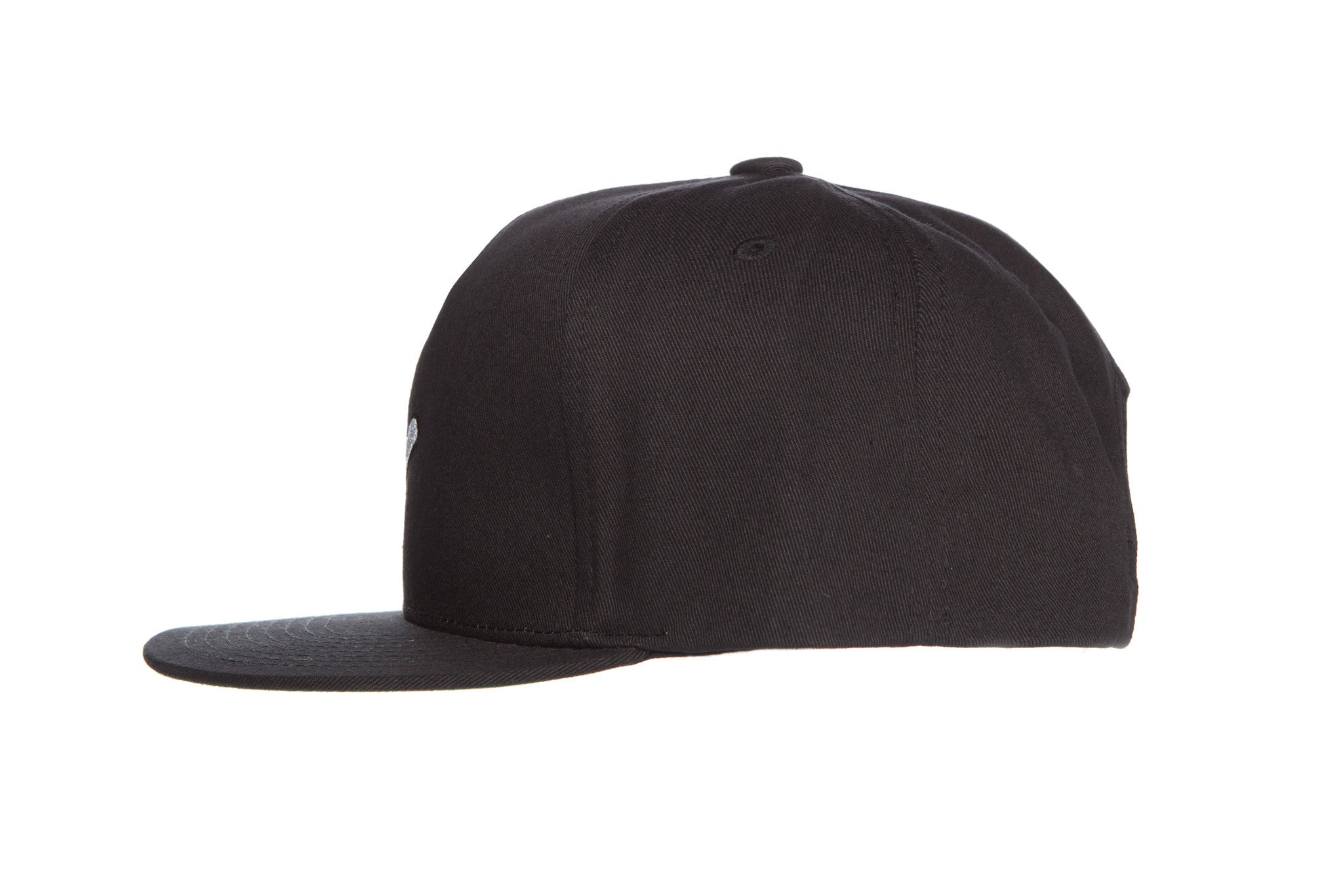 RaceKraft Premium 5 Panel 100% Cotton Twill SnapBack (Black)