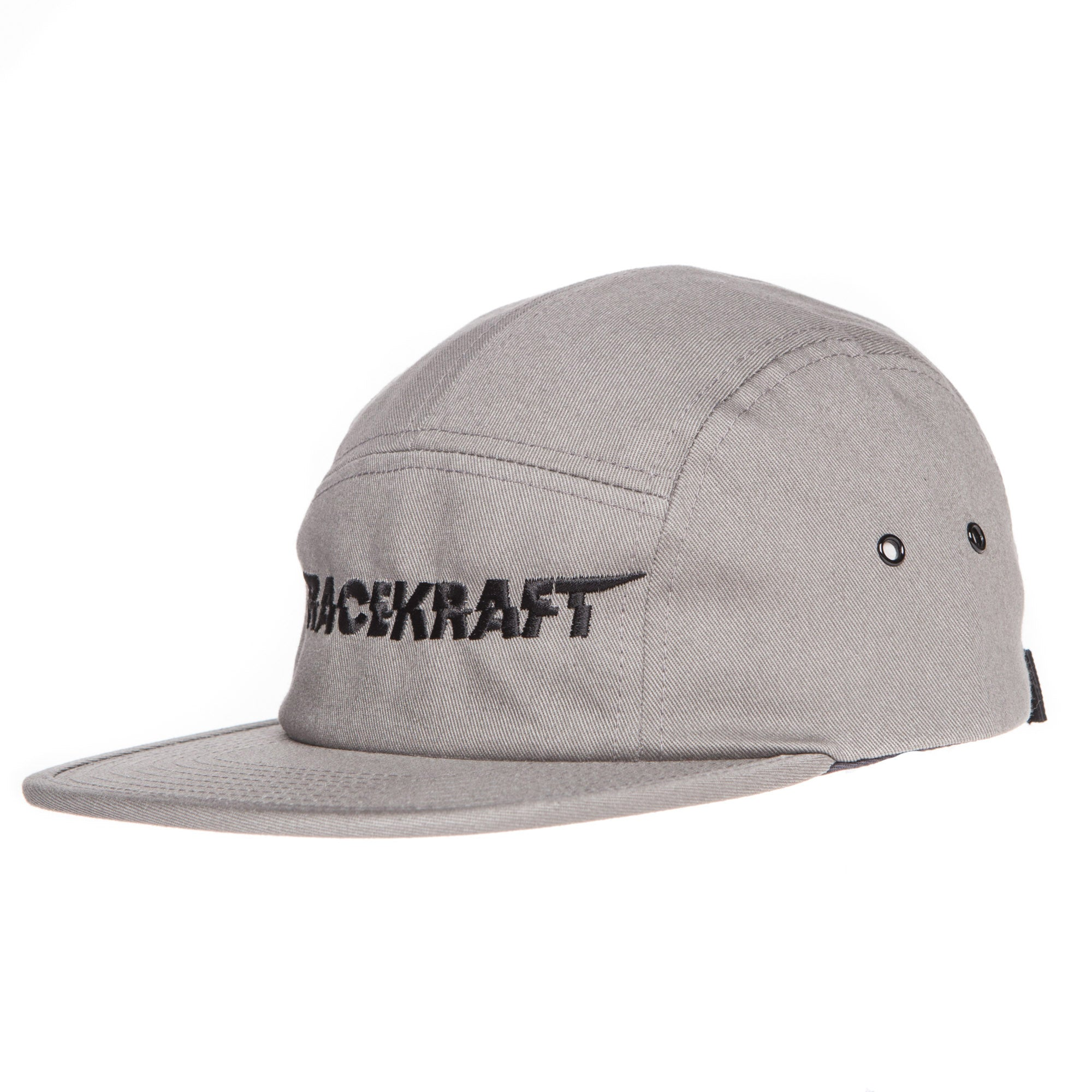 "5 panel Grey Cotton Cap ""Black RaceKraft"""