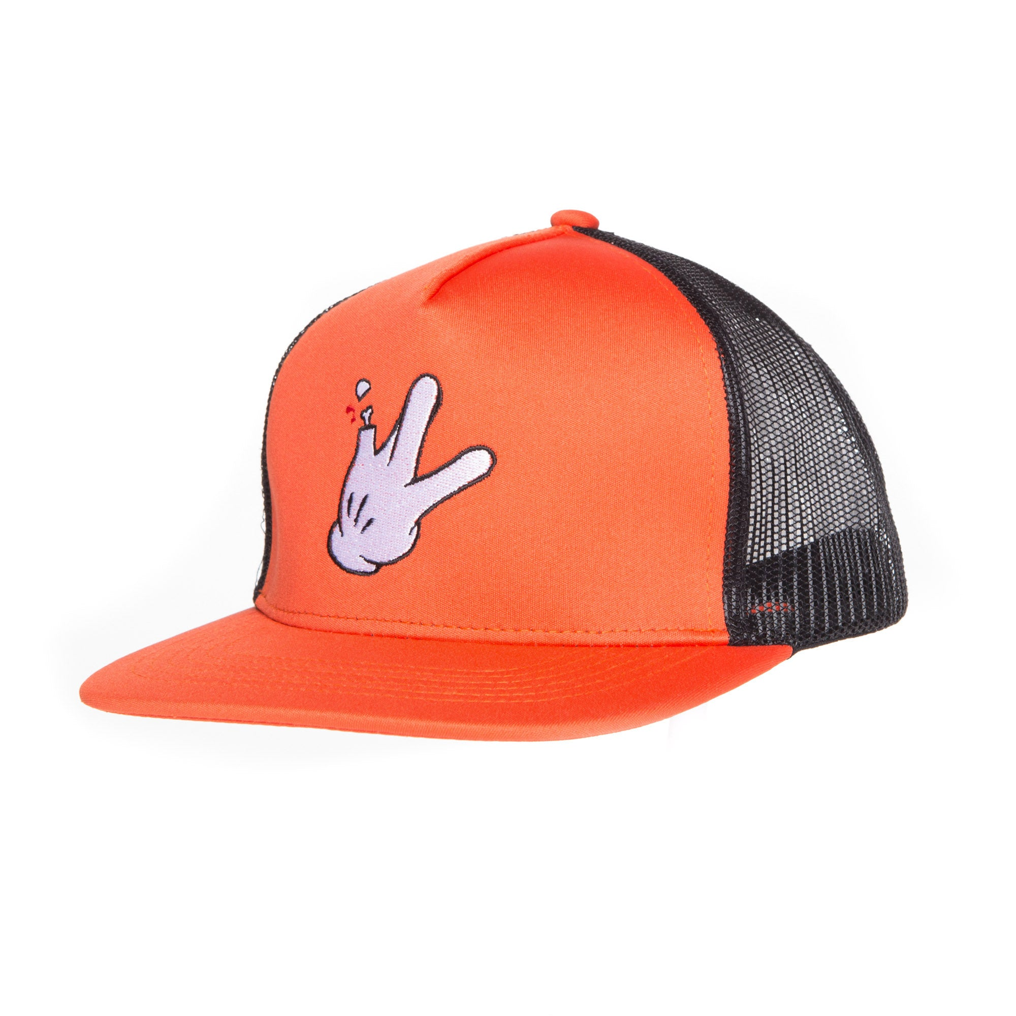 "Neon Orange Polyblend RaceKraft ""Glove"" Trucker Hat"