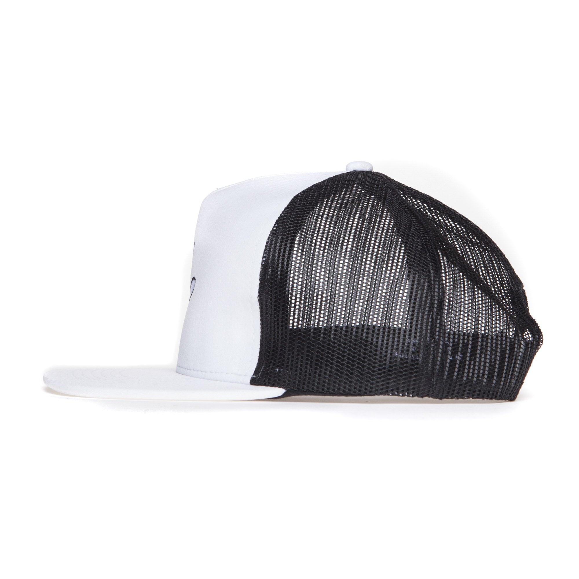 "White Polyblend RaceKraft ""Glove"" Trucker Hat"