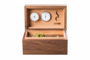 Cannaseur® One Walnut 1 Jar and Equipment Box (Without Lock) - Cannaseur
