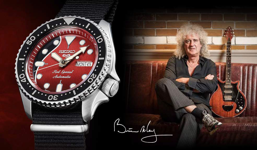 Seiko 5 Sports celebrates a legendary guitar, Brian May's ''Red Special''