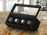 Boxy Watch Winder - Quad, Black Wood